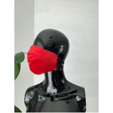 Veido kaukė raudona (daugkartinė) 2vnt.